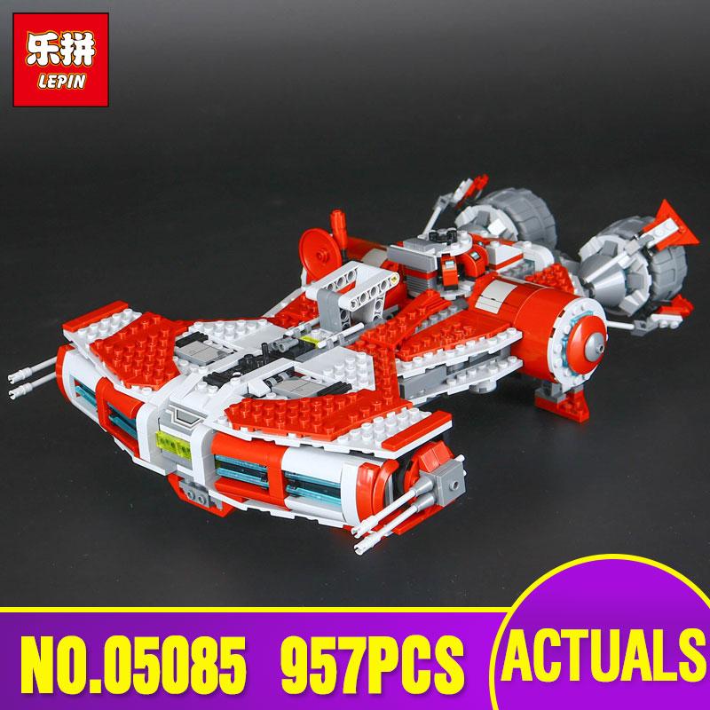 Lepin 05085 Star Genuine War Series The Defender Class Cruiser Set Building Blocks Bricks Educational Toy as Gift Legoing 75025