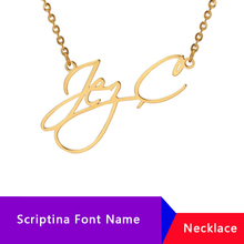 купить Personalized Name Necklace Women Collares Mujer Stainless Steel Choker Jewelry Custom Letter Necklaces Pendants Nameplate Gifts дешево