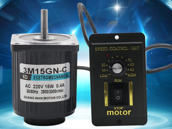 220V (AC motor + governor) optical axis high speed motor can rotate forward and reverse 15W miniature motor 1400rpm-2800rpm bringsmart 60w ac speed regulating motor 220v miniature optical axis motors 1400 1700 rpm high speed motor with speed governor