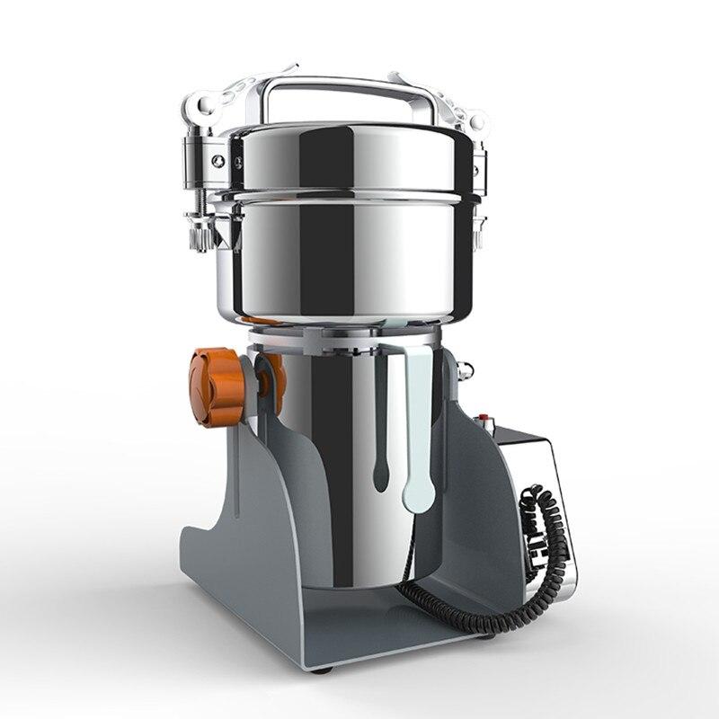 Коммерческая электрическая зерношлифовальная машина, промышленная мельница, шлифовальная машина для специй, трав, зерен, кофе, риса, кукуру