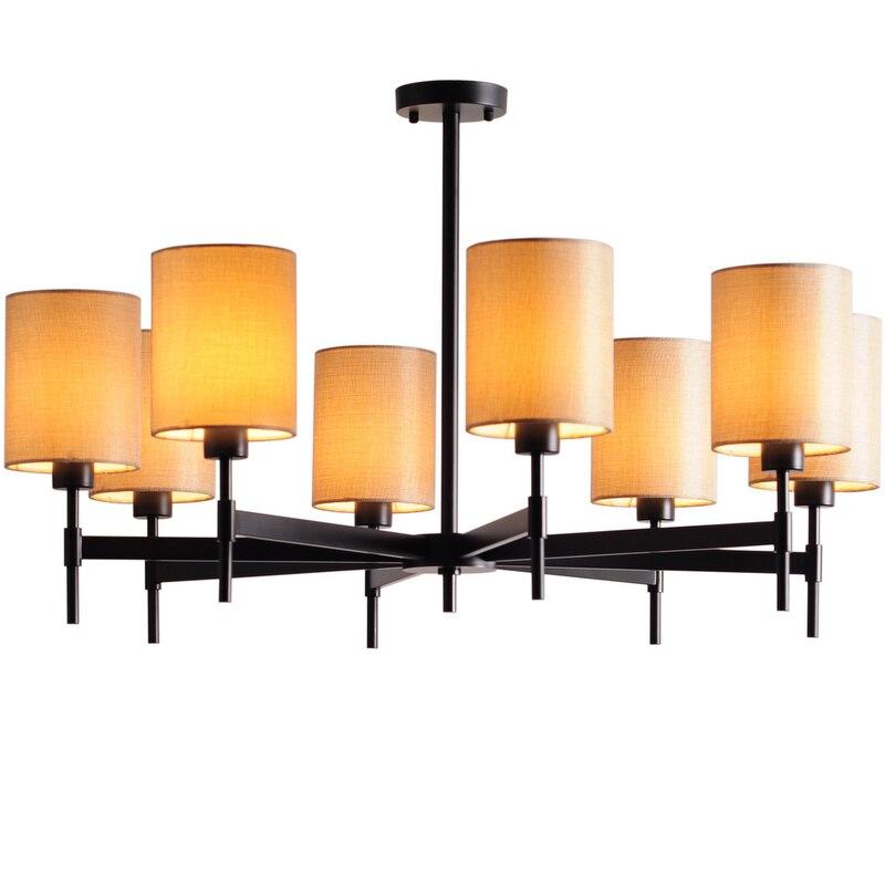 American Copper Chandelier light 8 head Full Bronze  for Bedroom Dining Living Room Luxury Suspendsion light Fixture E14 3W lamp chandelier lighting copper chandelier chandelier bronze - title=