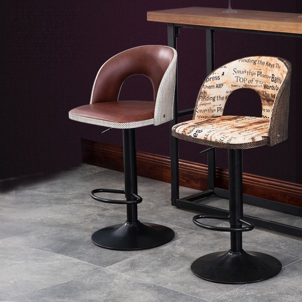 villa household bar chair KTV night-club lifting rotation stool boss Regal computer chair coffee house bedroom stool 240337 ergonomic chair quality pu wheel household office chair computer chair 3d thick cushion high breathable mesh