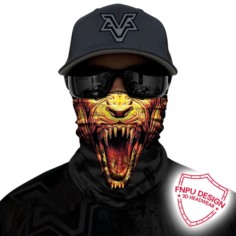 3D Seamless Balaclava Bicycle Neck Scarf Half Face Mask Ghost Skull Motorcycle Bandana Halloween Headband Headwear