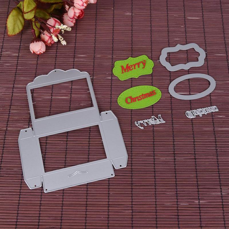 1pset alphabet box embossing folder template metalen cutting dies