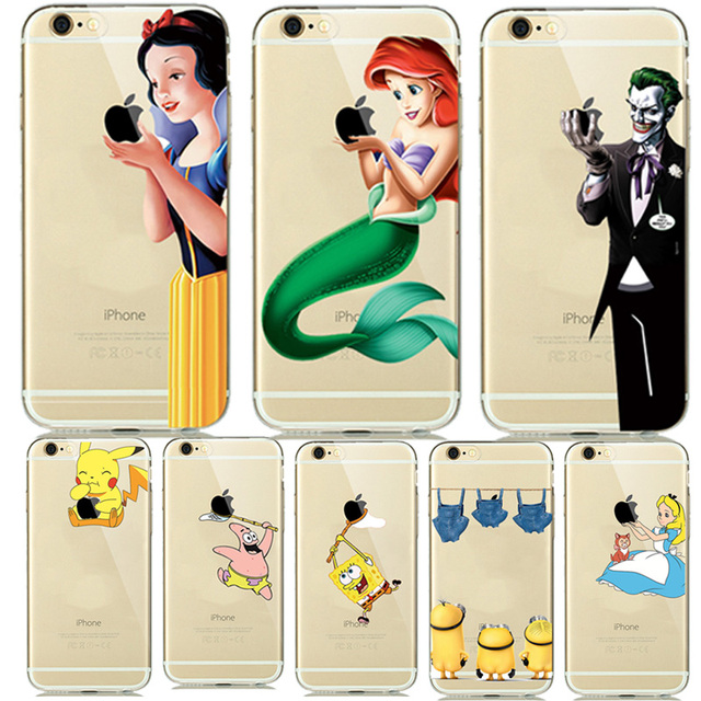 fashion new soft tpu silicone covers for fundas iphone 7 8 plus 6 6sfashion new soft tpu silicone covers for fundas iphone 7 8 plus 6 6s 5 5se cartoon animals phone cases pokemons mermaid capinhas in half wrapped case from