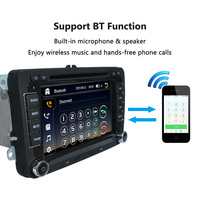 Universal Car 7 1080P HD DVD Player GPS Navigation Bluetooth Car Radio 2 Din In Dash