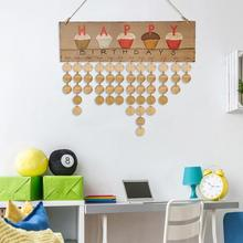 VODOOL DIY Heart Wooden Hanging Calendar Sign Special Day Board Happy Birthday Friends Date Mark Reminder for 2018 Family Gift