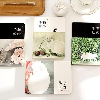 цена Japanese style aesthetic small fresh nuded doodle tsmip notebook stationery billbook whellote cat deer diary онлайн в 2017 году