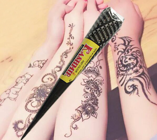 Jari Tangan Pasta 1 Pcs Desain Seni Tubuh Tato Henna Indian Kerucut