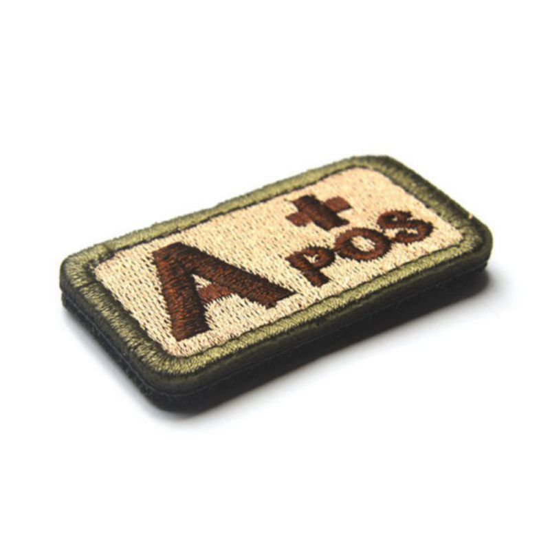 Military Tactics Blood Types Embroidered Patch Medical Armband Badge Accessories Clothes Decor
