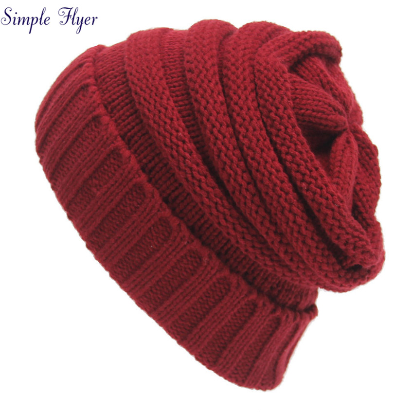 Womens Fall Fashion Hats Twist Pattern Beanies Winter Gorros for Female Knitted Warm Sku ...