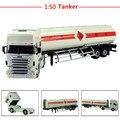 1:50 aleación de vehículos de ingeniería, alta simulación modelo de camión tanque de aceite, juguetes educativos para niños, envío gratis