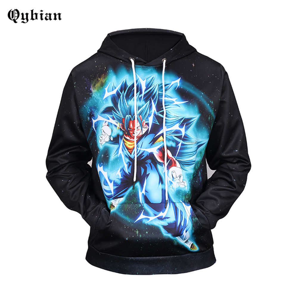 Black Light GOKU Hoodies 3D Printed Plus Size Sweatshirts Hooded Tracksuits Pocket Jackets Fashion Casual Novelty Dragon Ball Z