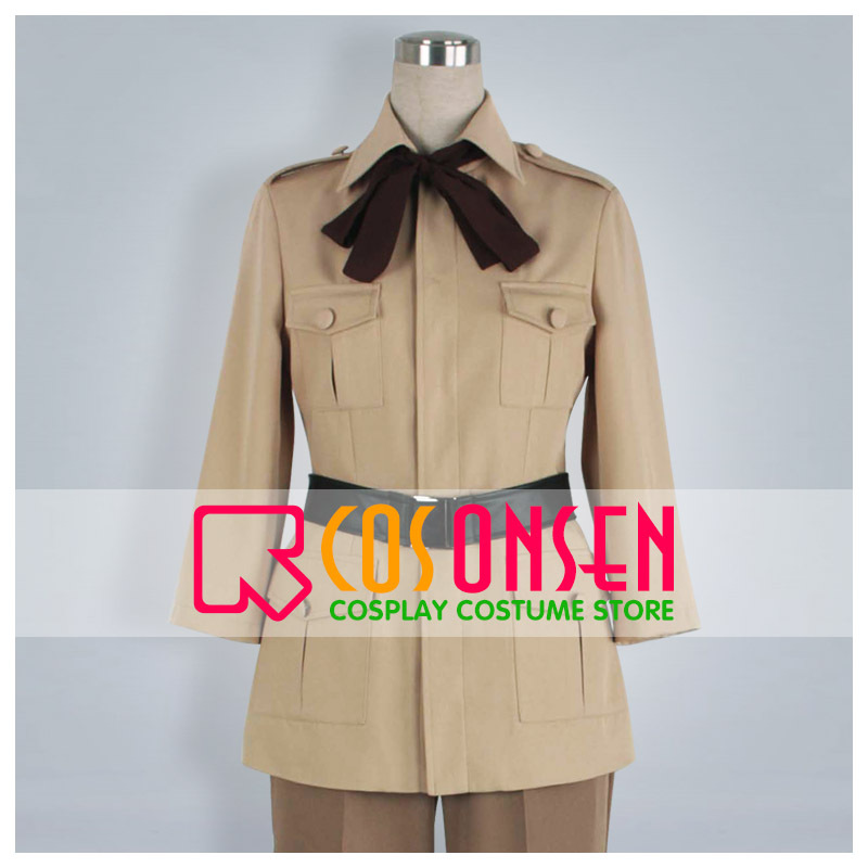 COSPLAYONSEN Axis Powers Hetalia Spain Uniform Cosplay Carnival Costume Light Khaki All Sizes