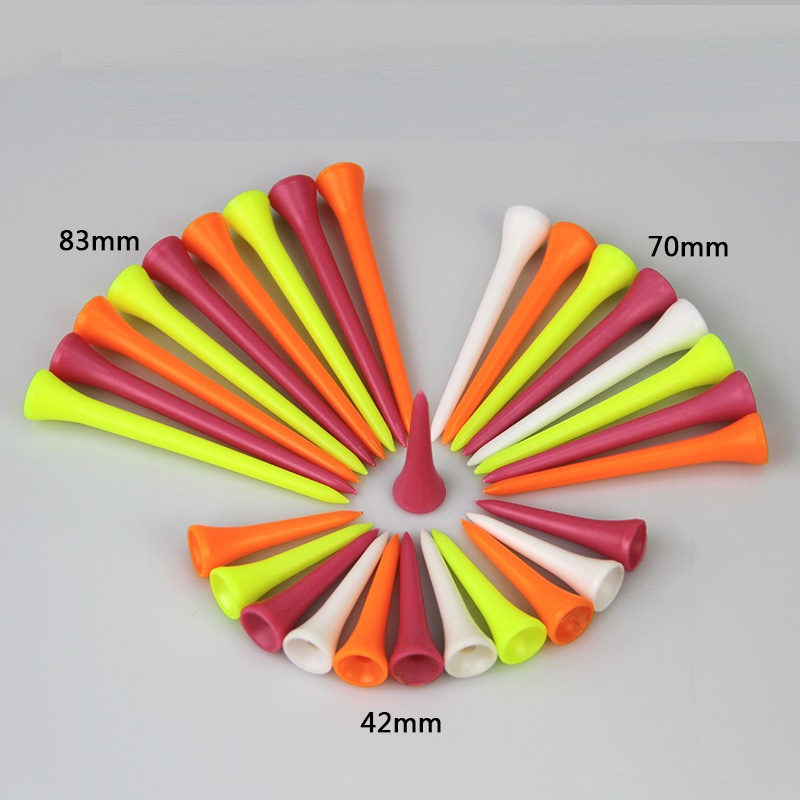 Fluorescent Golf Tee Night Playing Golf Accessories Mix Color 20pcs One Pack