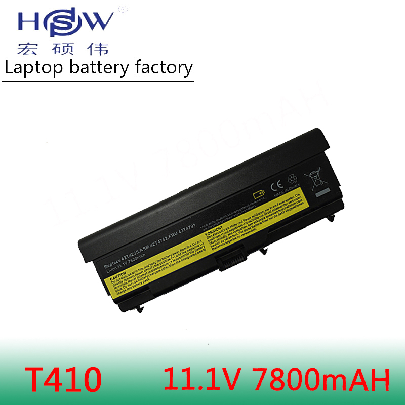 HSW 9cells Battery For Lenovo ThinkPad L421 L510 L512 L520 SL410 SL410k SL510 T410 T410i T420 T510 T510i T520 T520i W510 W520 in Laptop Batteries from Computer Office