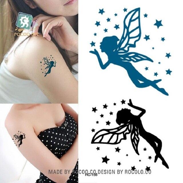 d99301818 2pcs/lots The new waterproof tattoo stickers Harajuku star goddess small  fresh tattoo pattern wholesale