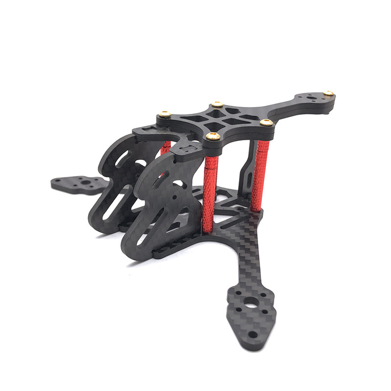 High Quality EXUAV Y120S 120mm Mini RC FPV Racing Drone Frame Kit Support Runcam Split Camera Cam Carbon Fiber Frame For DIY Toy цена