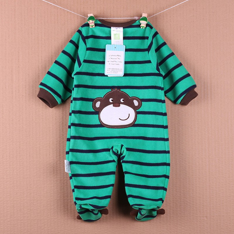 New Arrival Baby Footies Boys&Girls Jumpsuits Spring Autumn Clothes Warm Cotton Baby Footies Fleece Baby Clothing Free Shipping (36)