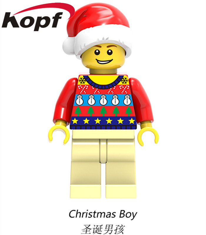 Building Blocks Super Heroes Merry Christmas Boy Joker Wiley Jango Fett Jack Skellington Clone Trooper Toys for children X0154