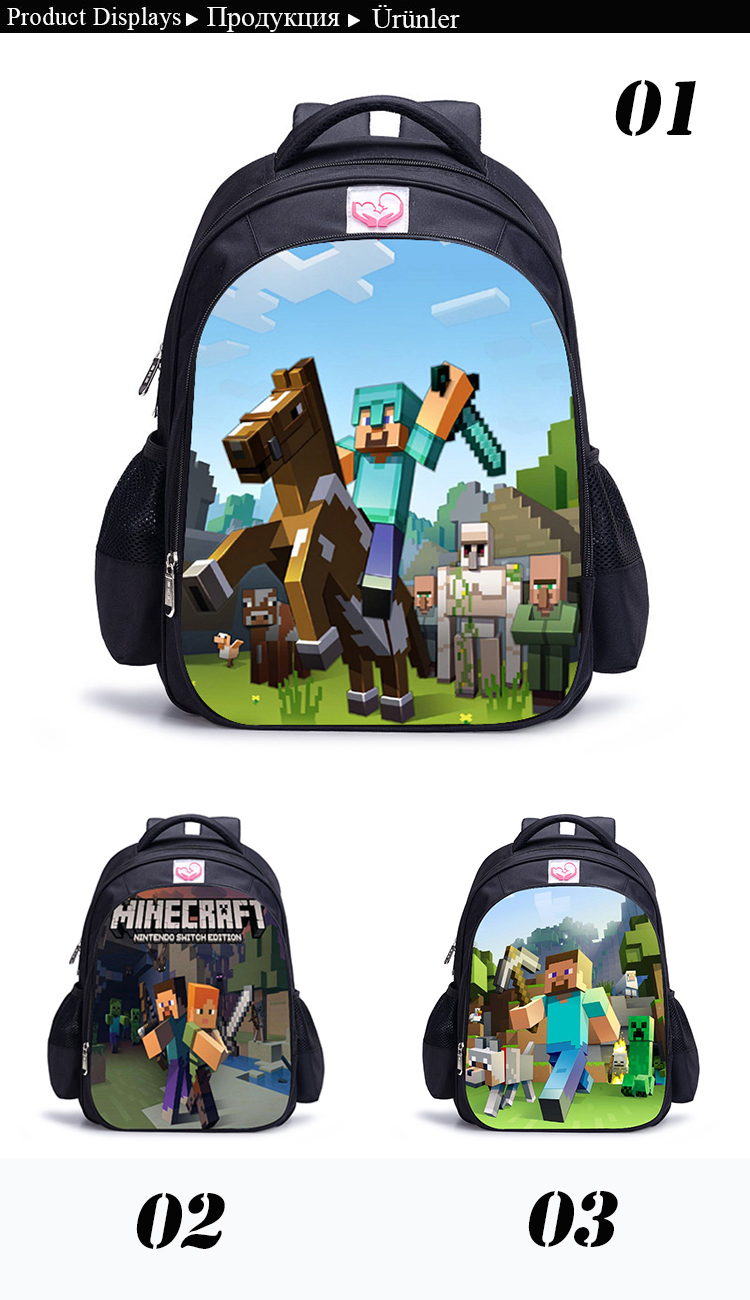 f5050c4d1f3d Children School Bag Minecraft Cartoon Backpack Pupils Printing School Bags  Hot Game Backpacks For Boys And Girls Mochila Escolar. 4 DX 4C NX X