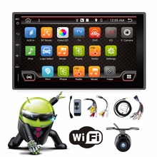 Dual Core 2GHZ Two Din 7Inch Android 4.4 Universal Car Non-DVD Player With Wifi 3G Host GPS BT IPOD Mirror Link Radio Free Map