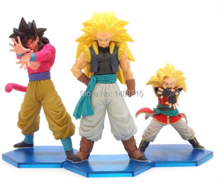 3pcs Classic Akira Toriyama Anime Dragon Ball Gt Son Goku Super Saiyan 3 Super Saiyan 4 Action Figure Toys Figure Toy Action Figure Toyssuper Saiyan 4 Aliexpress