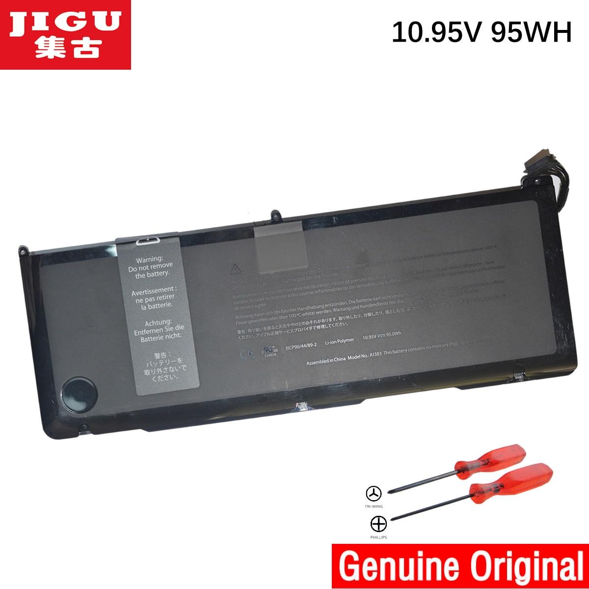 JIGU A1383 Original Laptop Battery For APPLE MacBook Pro 17 A1297 MD311 MC725 10.95V 95WH 43w4342 44e8763 battery for mr10i mr10is original 95