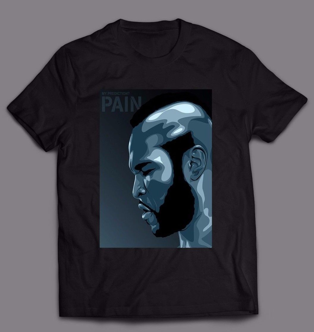 MR.T CLUBBER LANG ROCKY BOXINGER MOVIE *CUSTOM OLDSKOOL ART* FULL FRONT OF SHIRT image
