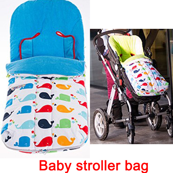Baby doll stroller whale bag Windproof thermal sleeping for wheelchairs envelope newborns Pram sleeping case cart accessories