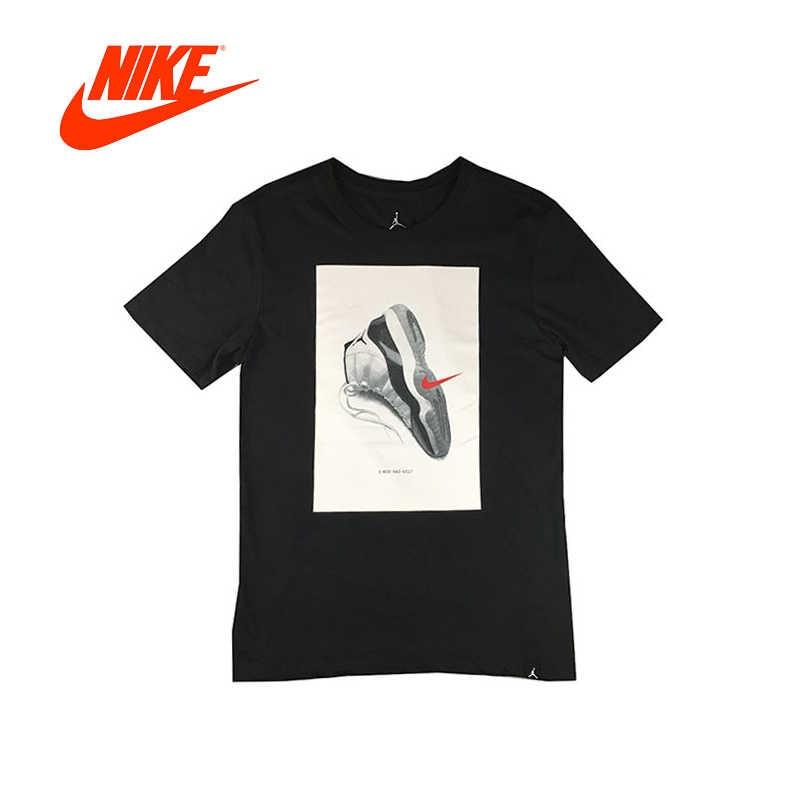 86b9358cdb16 Original New Arrival Authentic NIKE Air Jordan 11 Mens T-shirts Short  Sleeve Male White