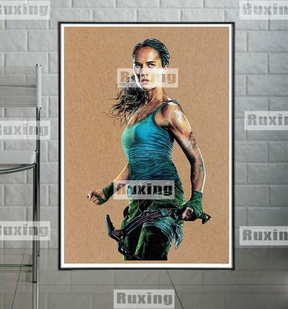 5D DIY diamond painting Lara Croft Tomb Raider Cross stitch diamond circular embroidery full display rhinestones pictures Home decoration