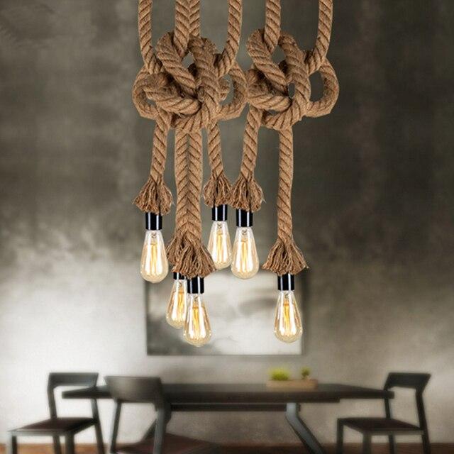 Favoriete Retro Vintage Touw Hanglamp Lamp Loft Creatieve Persoonlijkheid #WQ79
