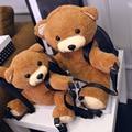Versão coreana 33-45 cm Dos Desenhos Animados Urso Bonito Urso De Pelúcia Mochila Senhoras Saco de Pelúcia Para Meninas Miúdos Amante Melhor presente