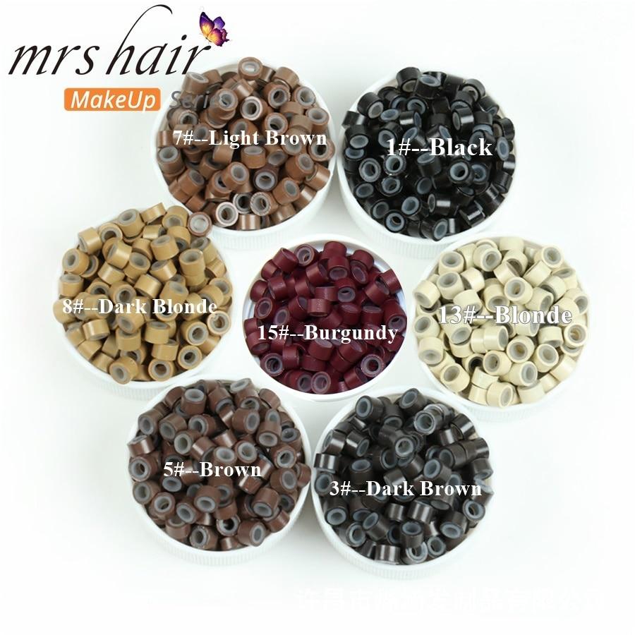 Silikon Mikro Tautan Manik-manik Manik-manik Rambut + Jarum Kait + - Perawatan rambut dan styling - Foto 1