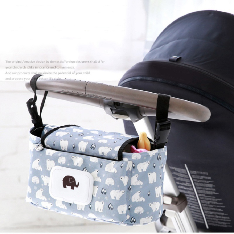Baby Stroller bag Universal Cup Organizer Carriage Pram Holder Accessories Bag