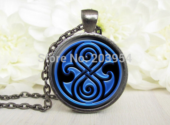 Steampunk fashion uk movie dr doctor who blue time Traveler tradis Necklace 1pcs/lot bronze silver Pendant jewelry vintage 2017