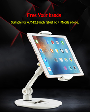 цена на Full Motion 4.7-12.9 inch Tablet Holder Mobile Phone Smartphone Stand Universal Foldable Lazy Tablet PC Support