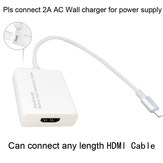 775a048e228 IOS11 12 iOS HDMI Adaptador De Vídeo para TV HDTV Cabo Adaptador Para iPad  para o iphone X XS MAX XR 5 7 8 5S 6 ...