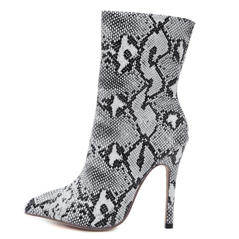 Pie Del White Smirnova Dedo Alta Grande 2019 De Tamaño Botas Otoño E Puntiagudo Moda Mujeres Tacones Super Invierno Señoras Zapatos Las Tobillo Para azn0wz8rBq