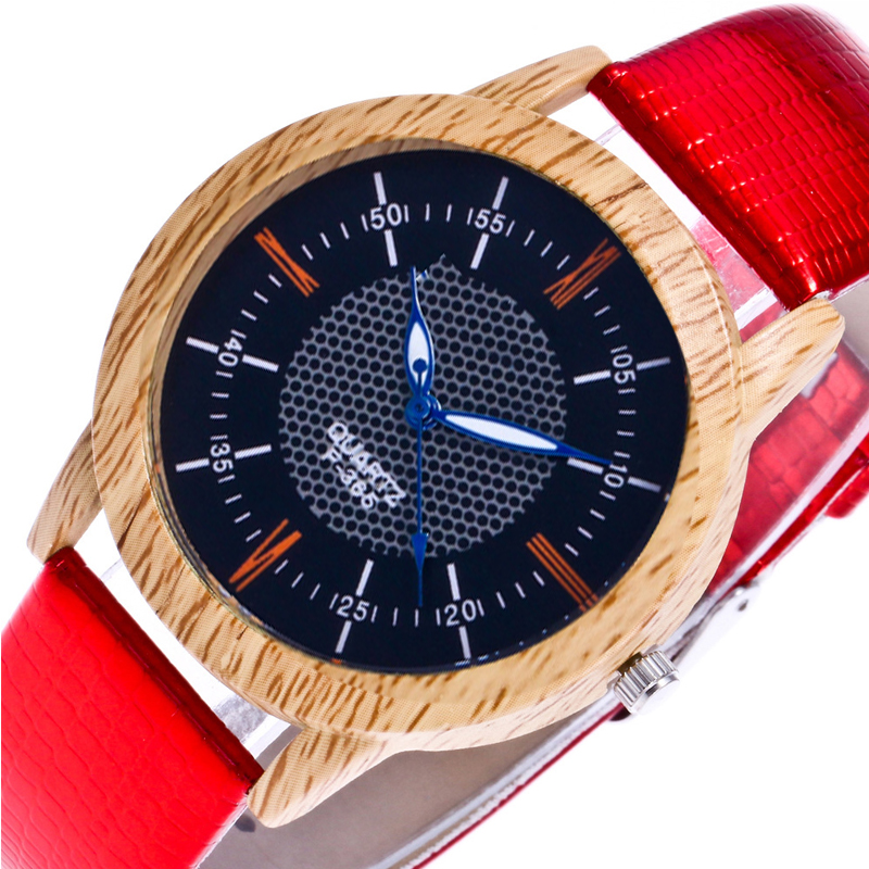 Men's Watches Quartz Wristwatches Wood Men Watch PU Leather Band Wrist Watches Fashion Casual Boy Wrist Watch Round Clock Alloy fashion casual watch men women unisex neutral clock roman numerals wood leather band analog hour quartz wrist watches 7550114 page 8