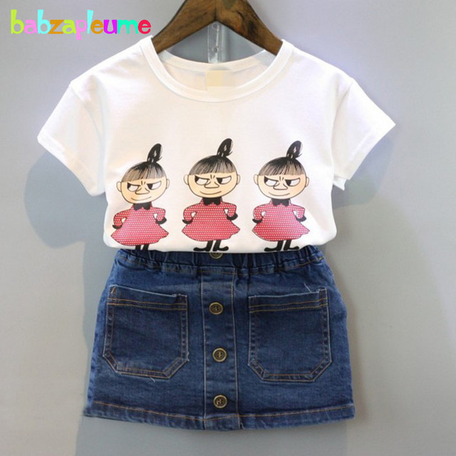 c943611b3 2PCS/2-6Years/Summer Style Kids Clothes For Baby Girls Suits Cartoon Cute