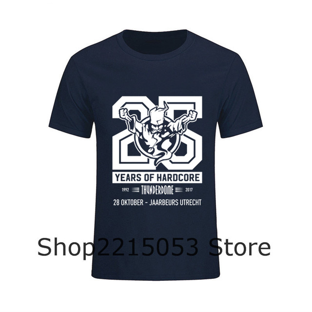 Men Design Own T Shirt Years Of Harcore Thunderdome Short Sleeve T-Shirt Male Crewneck Short TShirt feyenoord frigideira belarus