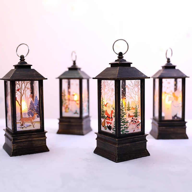 Dekorasi Natal untuk Rumah LED Lilin Natal Pohon Natal Dekorasi Lampu LED Natal Pohon Natal Ornamen Liontin