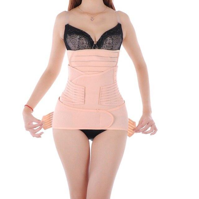 Brand 3Pieces SeMaternity Postnatal Belt After Pregnancy bandage Belly Band waist corset Pregnant Women Slim Shapers underwear
