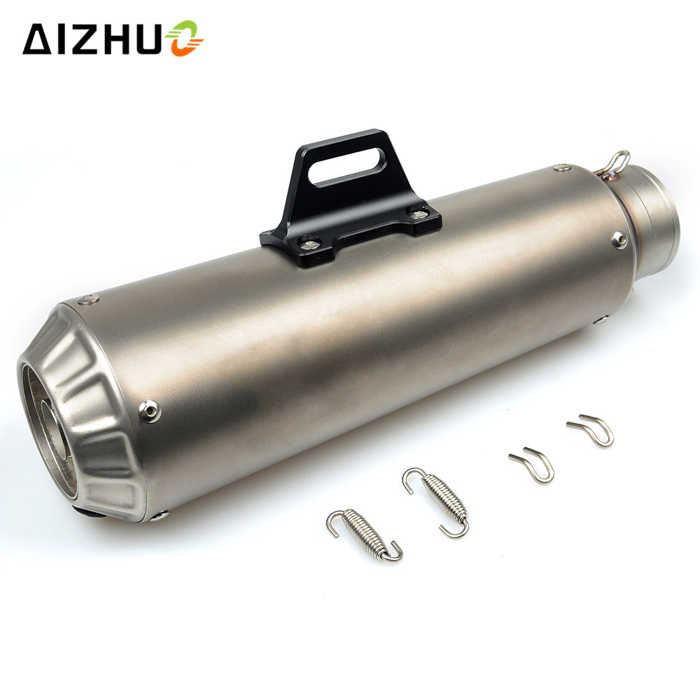 цена на 36-51MM Motorcycle Universal Exhaust Pipe Muffler FOR honda cbr 125 cb500f crf 250 xr 250 cbr 600 VT1100 VT250 XADV 750 CB600F