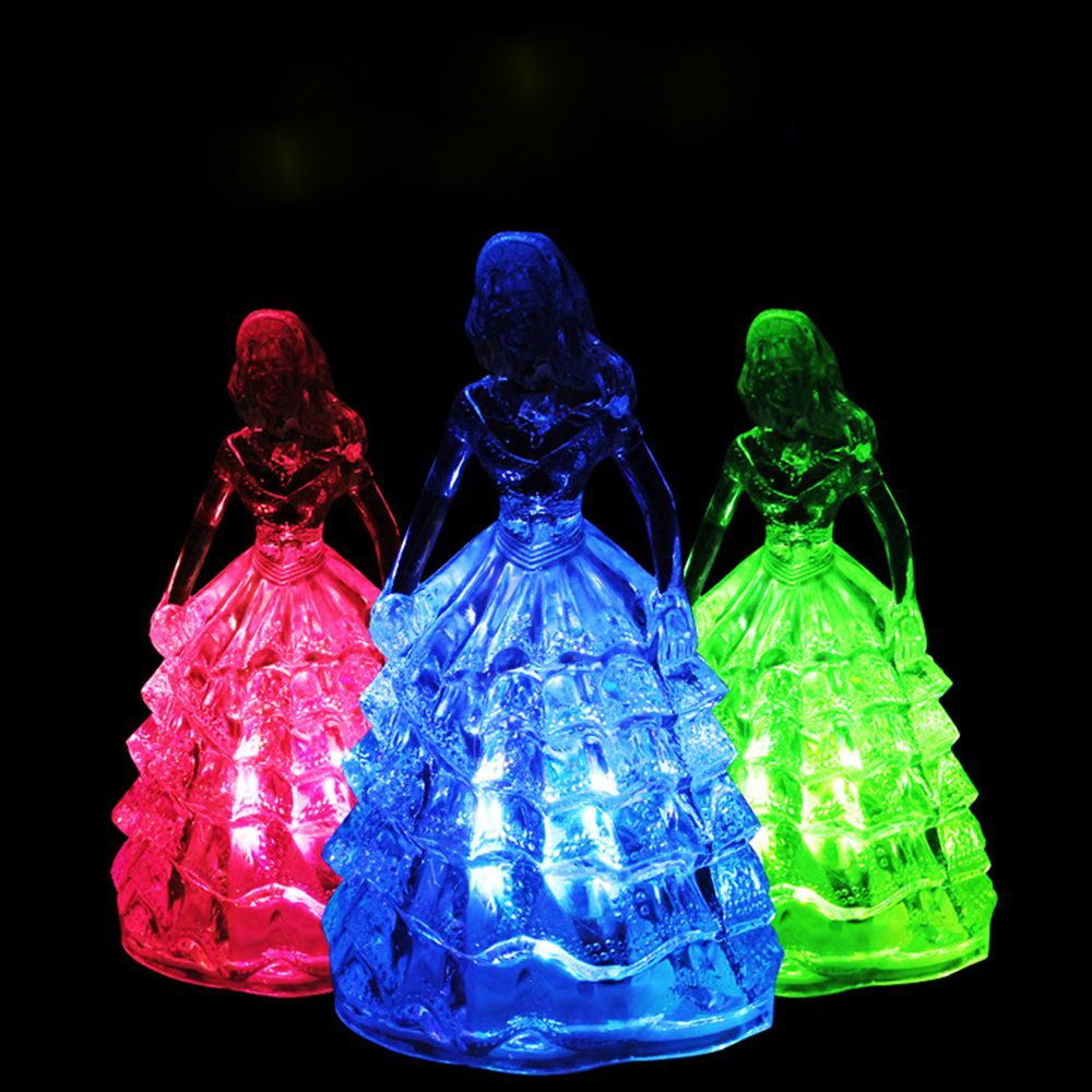 Fashion Little Princess Shape 7 Color Change Led Night Light Creative Lovely Children Toys Lights Delicate Gift
