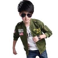 Jacket מקרית ילדי מעיל מעיל דפוס דגל אמריקאי ילד אביב בגדי נער ילדים להאריך ימים יותר ילד בגדים בגיל העשרה 8 13 גיל