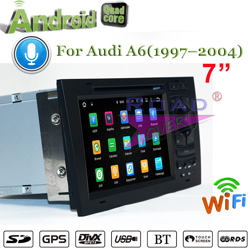 Roadlover 2G+16GB Android 7.1 Car Media Center DVD Player For Audi A6 1997-2004 Stereo GPS Navigation Auto Radio Magnitol 2Din
