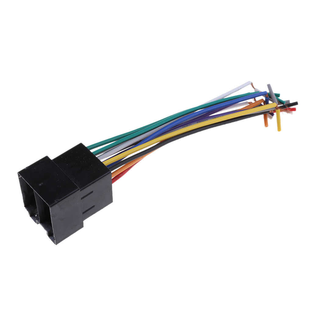 Universal ISO Car Radio Adapter Female Socket Stereo Wire Harness Connector